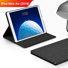 Cloth Case Stands Flip Cover for Apple iPad Air 3 Black