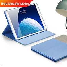 Cloth Case Stands Flip Cover for Apple iPad Air 3 Sky Blue