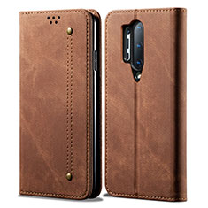 Cloth Case Stands Flip Cover for OnePlus 8 Pro Brown