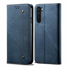 Cloth Case Stands Flip Cover for OnePlus Nord Blue