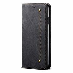 Cloth Case Stands Flip Cover for Realme 5 Pro Black