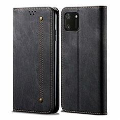 Cloth Case Stands Flip Cover for Realme C11 Black