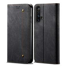 Cloth Case Stands Flip Cover for Realme X3 SuperZoom Black