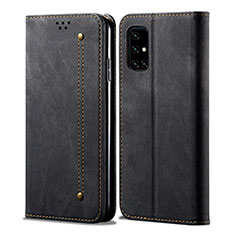 Cloth Case Stands Flip Cover for Samsung Galaxy A71 5G Black