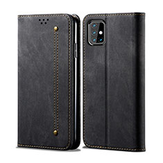 Cloth Case Stands Flip Cover for Samsung Galaxy M31s Black