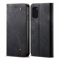 Cloth Case Stands Flip Cover for Samsung Galaxy S20 FE 5G Black