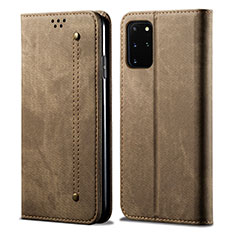 Cloth Case Stands Flip Cover for Samsung Galaxy S20 Plus 5G Brown