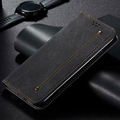 Cloth Case Stands Flip Cover for Vivo X50 Lite Black