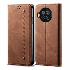 Cloth Case Stands Flip Cover for Xiaomi Mi 10T Lite 5G Brown