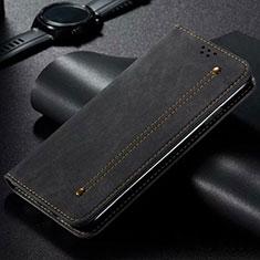 Cloth Case Stands Flip Cover for Xiaomi Mi Note 10 Lite Black