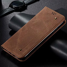 Cloth Case Stands Flip Cover for Xiaomi Mi Note 10 Lite Brown
