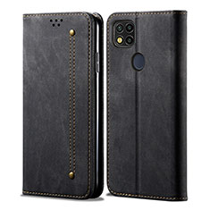 Cloth Case Stands Flip Cover for Xiaomi Redmi 9 India Black