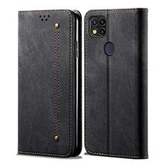 Cloth Case Stands Flip Cover for Xiaomi Redmi 9C Black
