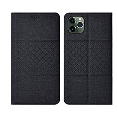 Cloth Case Stands Flip Cover H01 for Apple iPhone 11 Pro Max Black