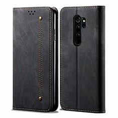 Cloth Case Stands Flip Cover H01 for Xiaomi Redmi Note 8 Pro Black