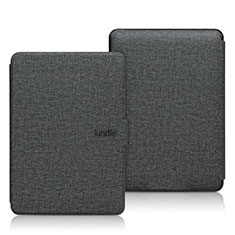 Cloth Case Stands Flip Cover L01 for Amazon Kindle 6 inch Black