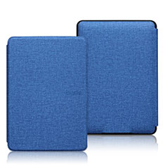 Cloth Case Stands Flip Cover L01 for Amazon Kindle 6 inch Blue