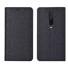 Cloth Case Stands Flip Cover L01 for Xiaomi Redmi K30 5G Black