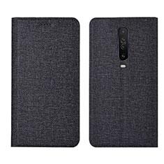 Cloth Case Stands Flip Cover L01 for Xiaomi Redmi K30 5G Black