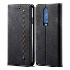 Cloth Case Stands Flip Cover L02 for Xiaomi Redmi K30 5G Black