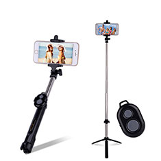 Extendable Folding Handheld Selfie Stick Tripod Bluetooth Remote Shutter Universal S24 for Apple iPhone X Black
