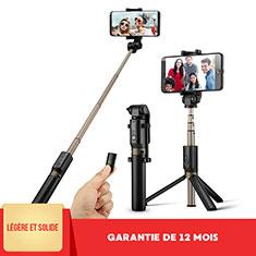 Extendable Folding Handheld Selfie Stick Tripod Bluetooth Remote Shutter Universal S27 for Apple iPhone X Black