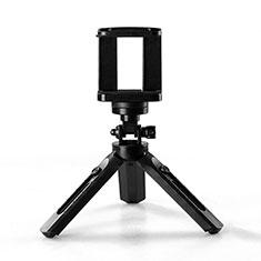 Extendable Folding Handheld Selfie Stick Tripod Bluetooth Remote Shutter Universal T02 for Apple iPhone X Black