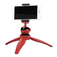 Extendable Folding Handheld Selfie Stick Tripod Bluetooth Remote Shutter Universal T09 for Apple iPhone X Red