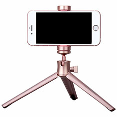 Extendable Folding Handheld Selfie Stick Tripod Bluetooth Remote Shutter Universal T10 for Apple iPhone X Rose Gold