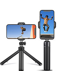 Extendable Folding Handheld Selfie Stick Tripod Bluetooth Remote Shutter Universal T12 Black