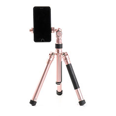 Extendable Folding Handheld Selfie Stick Tripod Bluetooth Remote Shutter Universal T15 Rose Gold