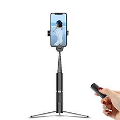 Extendable Folding Handheld Selfie Stick Tripod Bluetooth Remote Shutter Universal T20 for Apple iPhone X Black