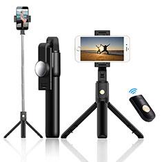 Extendable Folding Handheld Selfie Stick Tripod Bluetooth Remote Shutter Universal T22 for Apple iPhone X Black