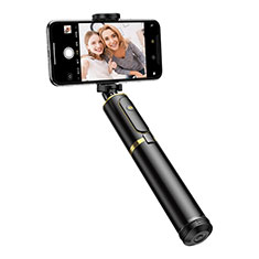 Extendable Folding Handheld Selfie Stick Tripod Bluetooth Remote Shutter Universal T34 Gold and Black