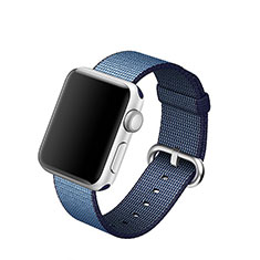 Fabric Bracelet Band Strap for Apple iWatch 3 42mm Blue