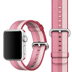 Fabric Bracelet Band Strap for Apple iWatch 3 42mm Pink