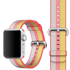 Fabric Bracelet Band Strap for Apple iWatch 3 42mm Red