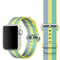 Fabric Bracelet Band Strap for Apple iWatch 3 42mm Yellow
