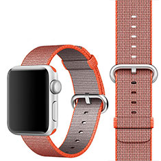 Fabric Strap Bracelet Band for Apple iWatch 3 42mm Orange