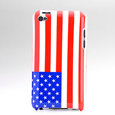 Flag United States Plastic Hard Rigid Cover for Apple iPod Touch 4 Colorful