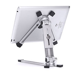 Flexible Tablet Stand Mount Holder Universal K19 for Apple iPad 4 Silver