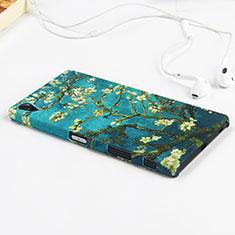 Hard Rigid Plastic Case Flowers Cover for Sony Xperia Z5 Premium Green
