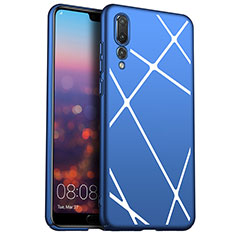 Hard Rigid Plastic Case Line Cover for Huawei P20 Pro Blue