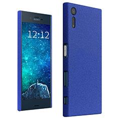 Hard Rigid Plastic Case Quicksand Cover for Sony Xperia XZs Blue