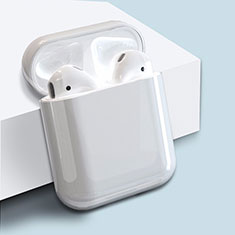 Hard Rigid Plastic Matte Finish Case Back Cover for Apple Airpods Charging Box for Apple AirPods White