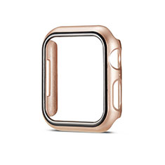 Hard Rigid Plastic Matte Finish Case Back Cover M01 for Apple iWatch 5 40mm Gold