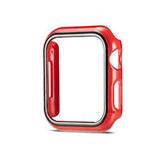 Hard Rigid Plastic Matte Finish Case Back Cover M01 for Apple iWatch 5 44mm Red