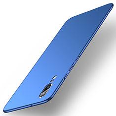 Hard Rigid Plastic Matte Finish Case Back Cover M01 for Huawei P20 Blue