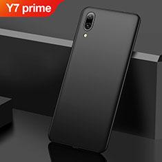 Hard Rigid Plastic Matte Finish Case Back Cover M01 for Huawei Y7 Prime (2019) Black