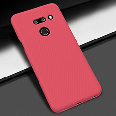 Hard Rigid Plastic Matte Finish Case Back Cover M01 for LG G8 ThinQ Red